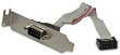 Serial Port Low Profile PCI Bracket for 10-pin COM Port