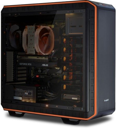 The Serenity AMD Threadripper Workstation built into the Be Quiet Dark Base 900 Pro